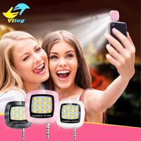 Wholesale 16 Led Flash - Selfie Ring Light Portable Smartphone Phone Selfie for iPhone 6 Plus Mini 16 Leds LED Flash Fill Light For iPhone 8 X Android Smartphone
