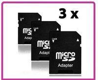 Wholesale Micro Sd Card Adaptors - Wholesale-3x Micro SD Memory Card to Standard Full SD SDHC Adapter Adaptor Converter