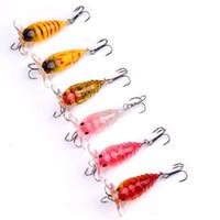 Wholesale Artificial fishing lure cicadas hard fish bait cm g inch oz with treble hook
