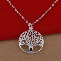 Wholesale 925 sterling silver necklace Korean version of the popular Green Tree necklace jewelry trade spot