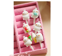 Wholesale Rabbit Dust Plug Headphone - Wholesale-wholesale 100pcs cartoon cute rabbit molang Dust Plug for iphone and 3.5mm headphones plug mobile phone FREE shipping