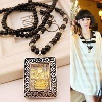 Wholesale Thailand Amulets - Fashion Thailand amulets pendant necklace accessories women long section of wild sweater chain souvenirs wholesale manufacturers