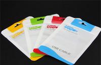 champagner gold 5s großhandel-Neuer Reißverschluss-Plastikeinkaufstasche-Paket-Hängen-Loch-Polyverpackung für iPhone Samsung-Galaxie HTC Handy USB-Kabel Poly opp Verpackungsbeutel