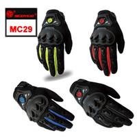 motocross-rennhandschuhe geben verschiffen frei großhandel-2015 Scoyco MC29 Handschuhe Motorrad Vollfinger Hohe Schutzhülle Palm Silicon Motocross Racing Neue Schutz Kostenloser Versand