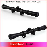 Wholesale Wholesales Scopes - High Quality Telescopic Scopes Sights Air Riflescope 4x20 Rifle scopes Hunting for 22 Caliber Rifles and Airsoft Guns