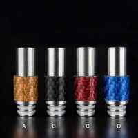 Wholesale Ego Ce5 Steel - Wide bore Drip Tip Mouthpieces Stainless steel Carbon Fiber drip tip 510 Drip tips for ego ce4 ce5