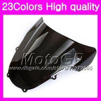 Wholesale Suzuki Gsxr Windscreen - 23Colors Windscreen For SUZUKI GSXR1000 00 01 02 K1 GSXR 1000 GSX R1000 K2 2000 2001 2002 Chrome Black GPear Smoke Windshield