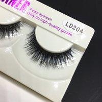 Wholesale High Quality Stage - high quality Eyelash LD204 3D Mink False Eyelashes Natural Crisscross Messy Soft Multilayer Fake Eyelashes Stage Makeup Lashes