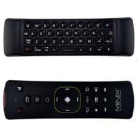 mouse minix venda por atacado-MINIX NEO A2 Lite 2.4 GHz Teclado Sem Fio Gaming Air Mouse Giroscópio De seis eixos Acelerômetro para Android TV Box PC Jogo Preto