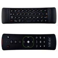 a2 android tv großhandel-MINIX NEO A2 Lite 2,4 GHz Wireless Keyboard Gaming Air Maus Sechs-Achsen-Gyroskop Beschleunigungssensor für Android TV Box PC Spiel Schwarz