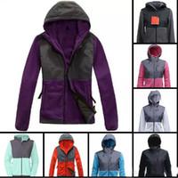 Wholesale Xxl Women Wool Coats - Top Quality Winter Women Fleece Hoodies Jackets Camping Windproof Ski Warm Down Coat Outdoor Casual Hooded SoftShell Sportswear Black S-XXL