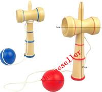 fedex oyunları ücretsiz toptan satış-DHL FEDEX UPS Ücretsiz kargo Komik Japon Geleneksel Ahşap Oyun Oyuncak Bilboquet Topları Eğitim Hediye Yeni