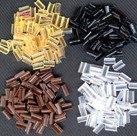 Wholesale Nail Tip Hair Glue - 1000 pcs Hair Extensions Keratin Bonding Glue Granule Fusion Nail U Tip Rebonds 4 Color Rebonded For Hair