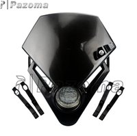 Headlights black yamaha bike - PAZOMA Universal Motorcycle Headlight Street Fighter Bike Motorcycle Accessorier Dirt Bike LED Vision Headlights Black