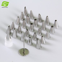 Wholesale Stainless Steel Bag Pipes - 26pcs Set Pastry Bag Nozzles Stainless Steel Icing Piping Nozzles With Decorating Nail, dandys