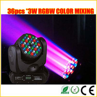 ingrosso testa mobile testa cree-Miscelazione colore RGBW Cree led 36 * 3W led moving head stage beam weeding light