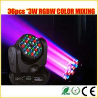 hareketli kafa led renk toptan satış-RGBW renk karıştırma Cree led 36 * 3 W led hareketli kafa ışın sahne ayıklaması ışık