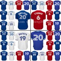 Wholesale Jose Bautista - Men's 20 Josh Donaldson 19 Jose Bautista Baseball Jersey Adult 6 Marcus Stroman Jerseys Embroidery 100% Stitched