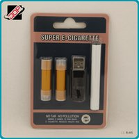 Wholesale Disposable Rechargeable Cigarette - Super e-cigarette rechargeable 510 starter kit e cig blister kit 180mah 280mah 510 battery micro usb 2pcs disposable cartomizer