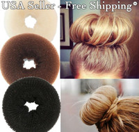 Wholesale Bump Hair - 20pcs Hair Volumizing Scrunchie Donut Ring Style Bun Scrunchy Sock Poof Bump It Snooki
