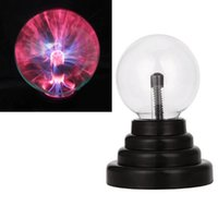 Wholesale Plasma Crystal Ball - Magic Crystal Plasma Light Ball Electrostatic Induction Balls 3 inch 5W LED Lights USB Power & AA Battery Party Decoration Children Gift