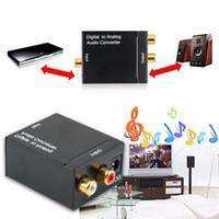 convertidor digital gratis al por mayor-Adaptador digital Óptica Coaxial RCA Toslink Señal a Audio Analógico Convertidor Cable Adaptador Envío Gratis DHL