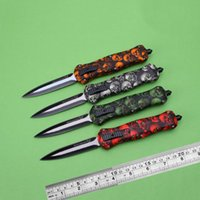 Wholesale out gear - Butterfly Knife A020 Automatic Knives Double Action Out Front Knife Tactical Knife Outdoor Camping Survival Gear Auto Knives