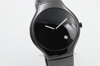 Wholesale Round Pear - Luxury brand full high quaity limited mens watch black ceramic round TICHY high quality date ceramic pear dial mens fashion gents watches