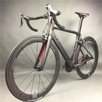 velo complet noir achat en gros de-Leadnovo Vélo de course complet en fibre de carbone pour cyclisme, jeu de cadres en fibre de carbone T800, couleur noir et rouge, 3D en trois dimensions