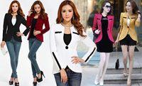 Wholesale One Button Shrug - Spring Autumn Sexy Women's Clothing Shrug Shoulders One Button Blazer Suit Jacket Ladies Casual Coat Outerwear
