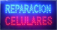 envío libre del teléfono celular de la venta al por mayor-Envío gratis vendedor caliente customerized animado LED REPARACION CELULARES SIGN BOARD TAMAÑO 19x10