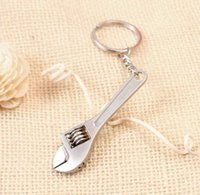 Wholesale 2015 Mini Cute Creative Tool Metal Wrench Spanner Key Chain Ring Keyring D624