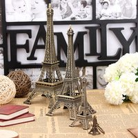 Wholesale Bronze Tone Paris Eiffel Tower Figurine Statue Vintage Model Home Decor Sizes order lt no track