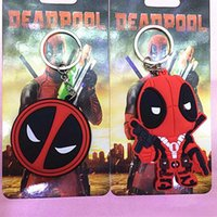 Wholesale Cheap Promotion Toys - Promotion 2016 New POP Keychain: Marvel - Deadpool Action Figure and big Face Best gift for Children Cheap price Hot Sale!