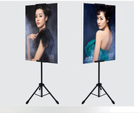 POP Metal Tripod Bedframe Hanging Banner Up Display Supporto telescopico Poster Stand Superficie di cottura Smalto opaco 2 set Buon imballaggio