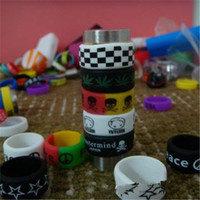 Wholesale Decorative Rings - Silicon Rubber Band Vape Ring for Mechanical Mods Decorative and Protection Mod Resistance Rubber Bands for 18650 22MM Mod RDA RBA Free Ship
