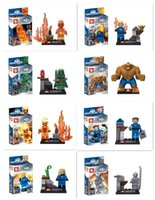 SY167 Building Blocks 8pcs set Super Heroes Dr. Doom piedras mágicas Fantastic Four Invisible Women Figures con caja