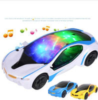 Model Car Electric Plastic Toys 3D Flashing Car Sound Light Universal Emulation Sport Concept Brinquedos para crianças KKA3410