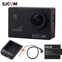 Wholesale Optical Cable Camera - Wholesale-new Original SJCAM SJ4000 WiFi 1080P Sport Action Camera Car DVR + Extra Battery + Charger + AV Cable DHL Free shipping