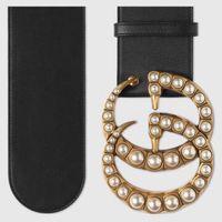 Wholesale Women Width Belt - fashion women Big gold buckle genuine leather 7 cm width black belt with box designer belts women belts luxury brand belt free shipping