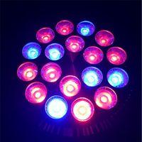 sistemas de luz de crecimiento libre al por mayor-1X 54W E27 llevó luces de crecimiento AC85-265V Alta potencia 12Red 6Blue LED Luz de crecimiento para plantas con flores y sistema hidropónico envío gratis
