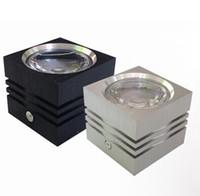 downlights carrés à montage en surface achat en gros de-La puissance élevée de Dimmable 7W 12W a mené la surface en aluminium menée à CA de surface de l'aluminium 86-265V de downlight