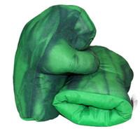 Wholesale Hulk Plush - Plush The Incredible Superhero Figure Spider man the Hulks toys Iron Man boxing Gloves children boy gift Hulk Gloves