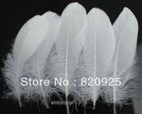 Wholesale Goose Decors - 100pcs White Color Goose Feather 10-15cm 4-6 inch Wedding Party DIY Decor Crafts