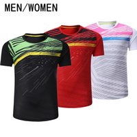 Wholesale clothes game - Free shipping badminton games, men   Women Short Sleeve tennis shirts, sports clothes, quick drying and sweat absorption