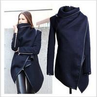 Wholesale Warm Trench Coat Women - Fashion Women Lady Slim Wool Warm Long Coat Jacket Trench Windbreaker Parka Outer