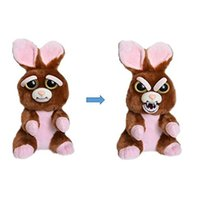 Wholesale Stuffed Toy For Pet - 2018 Christmas Game Face Change Feisty Pets Animals Plush toys cartoon monkey unicorn Plus Animals Stuffed Animals for baby