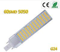 Wholesale Led Pl Downlight - G24 E27 pl led Lamp 12W SMD5050 LED downlight light bulb bombillas 110V 220V Warm White  White High Power Free shipping