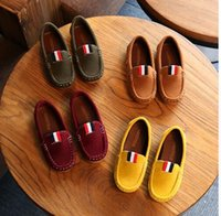 Wholesale leather loafers toddlers - 2017 New Spring Boys Children Shoes Kids Boys PU Leather Shoes Kids Moccasin Loafers Toddlers Casual Single Flats Sneakers C301