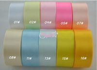 saten kurdela 25 metre toptan satış-100 yards / lot 1-1 / 2 '' (38mm) tek yüz saten kurdele polyester şerit, 25 yards / rulo 4 rulo 1 grup 120 renk optin daha renk için